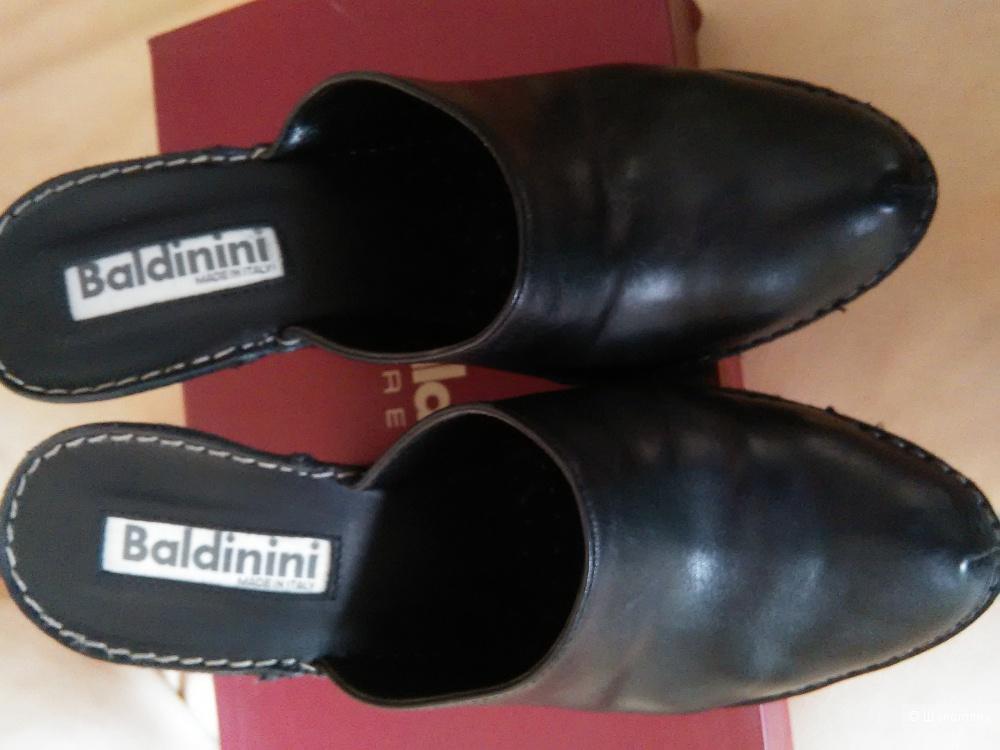 Сабо BALDININI (Италия), р. 37, натуральная кожа, черные, оригинал