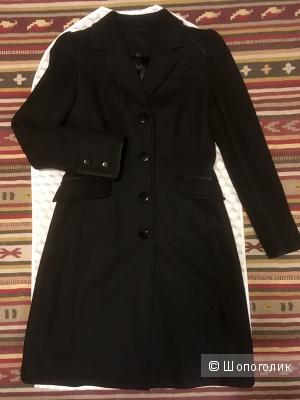 Весенне-осеннее пальто Glenfield. Цвет черный, размер S. Длина до колена