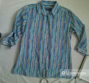 Marc O Polo рубашка с принтом из извилистых разноцветных линий 100% хлопок Маркировка 38 eur (46-48 рус)