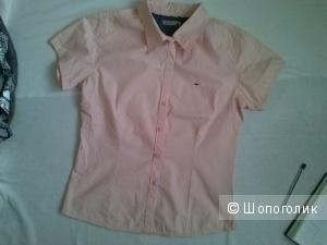 Tommy Hilfiger рубашка базовая нежно персикового цвета из хлопка 44-46рус