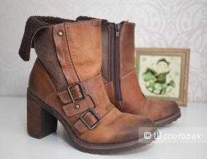 Кожаные ботинки на каблуке Aldo в идеале, 37 размер