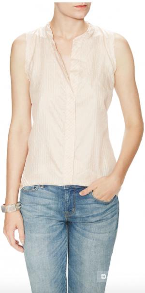 Шелковая блузка Marc by Marc Jacobs, нежно-розовая, размер L, на рос. 48