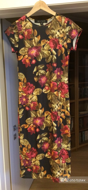 Платье MISO трикотажное с цветочным принтом р.12 (росс.44-46)