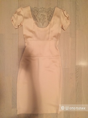 Платье кремового  цвета, Италия, размер 42-44