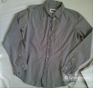 Marc o Polo рубашка серая в полоску Марк 40 (пог 54 см)