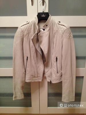 Кожаная байкерская куртка Mango