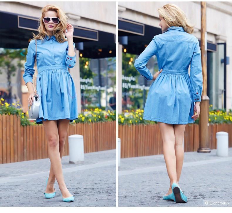 6d6783c997c1c22 Джинсовое платье Veri Gude размер L (44-46 российский), в магазине ...