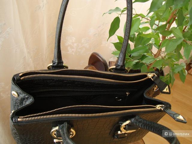 Новая сумка Guess серии Luxe из натуральной кожи под рептилию