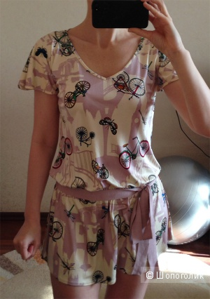 Шелковая блузка-туника Re Vera, XS