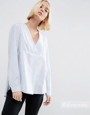 Хлопковая рубашка в полоску ASOS - Blue/white / UK 8, EU 36 (42-44 рус)