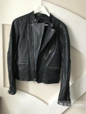Кожаная куртка BLK DNM LEATHER JACKET 22 размер S цвет navy