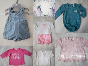 Вещи для девочки 0-3 пакетом Zara, Benetton, F&F, Next, George, Vila (8 вещей)