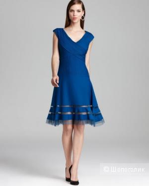Tadashi Shoji красивое платье василькового цвета р.46-48 Новое.Оригинал