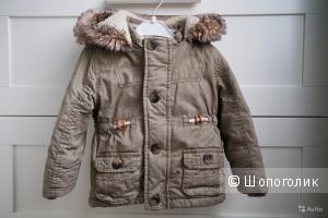 Куртка-парка демисезонная F&F 9-12 месяцев, унисекс, в идеале