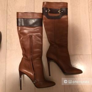 (новые) коричневые сапоги Dolce & Gabbana. Размер 38,5 - 39