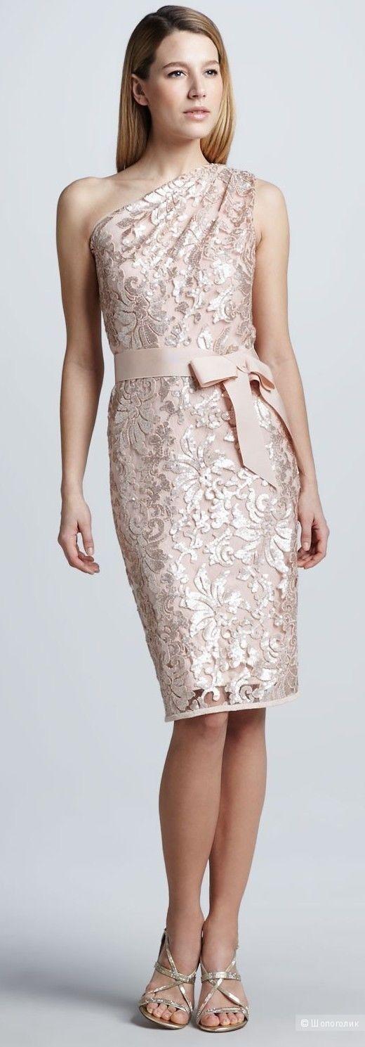 Tadashi Shoji красивое платье пудрового цвета р.48 Новое.Оригинал