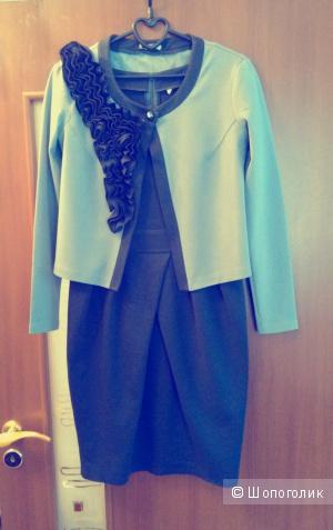 Трикотажный костюм бренда Karavan style 44-го размера