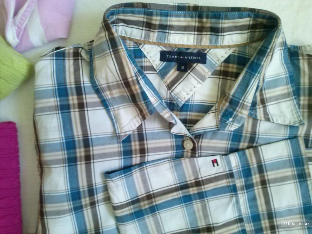 cb67c6d5e33d Tommy Hilfiger новая клетчатая рубашка марк. 8, 46(rus) пог 48 см, в ...