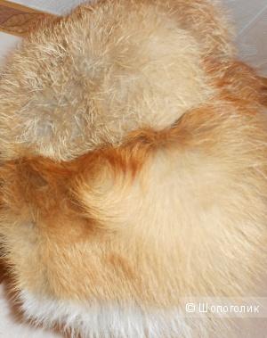 Шапка  меховая лисья (новая)56/58 размер