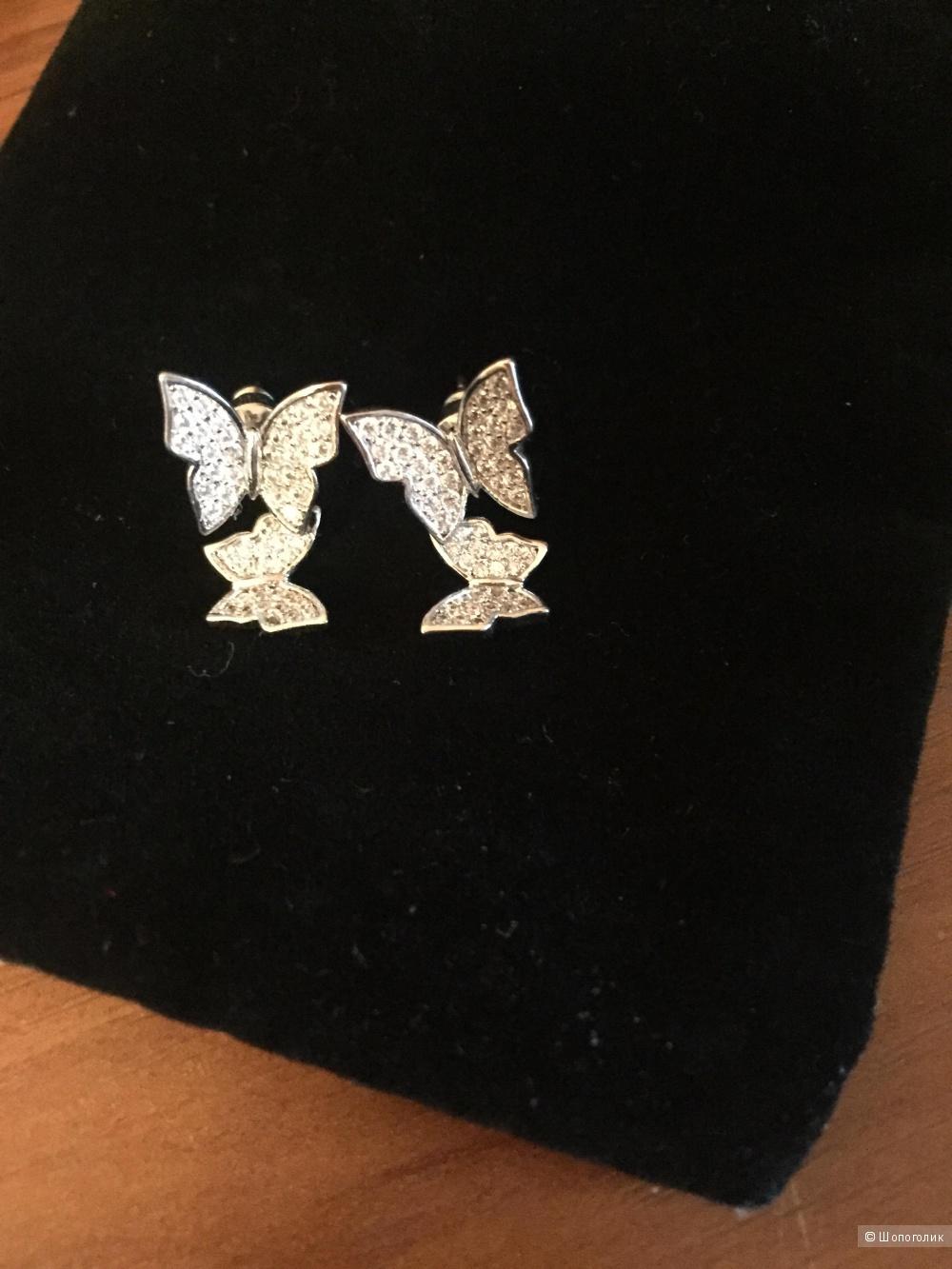 Серьги - гвоздики бабочки
