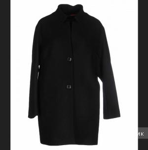 Новое шерстяное черное пальто JAN MAYEN 46IT