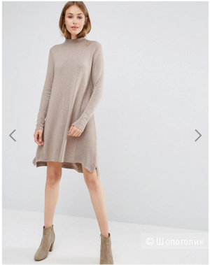 ASOS Knit Tunic Dress in Cashmere Mix - UK8