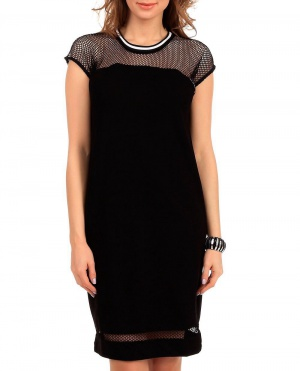 Платье Oui черное с сеткой (EU 38)