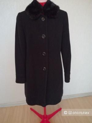 Пальто демисезонное черное TopShop Petite (б/у, 44 европейский)