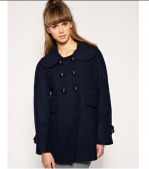 Новое тёмно-синее пальто French Connection (16 UK)