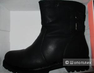 Ботинки кожаные (новые) 37/38 размера