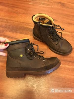 """Ботинки осенне-весенние на мальчика фирмы """"CATERPILLAR """" 32 размер одеты 1 раз"""