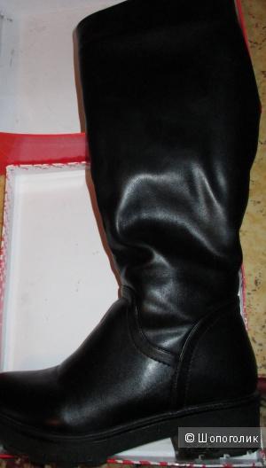 Сапоги кожаные зимние (новые)38,39 размер belamour