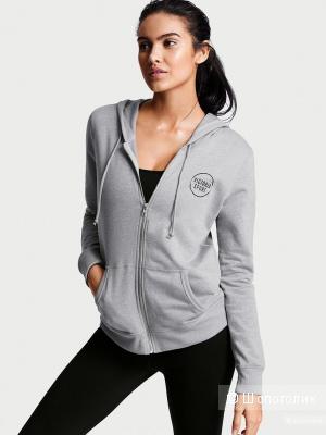 Худи (олимпийка) с капюшоном Victoria's Secret, S, новая, на флисе, джинсовый цвет