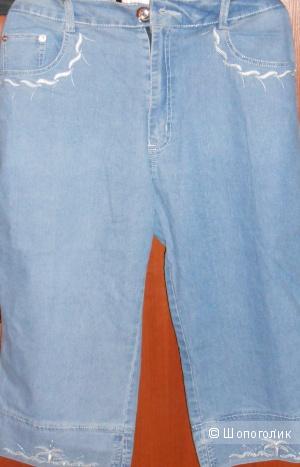 Капри джинсовые 34-36 размер 50/52 (новые)