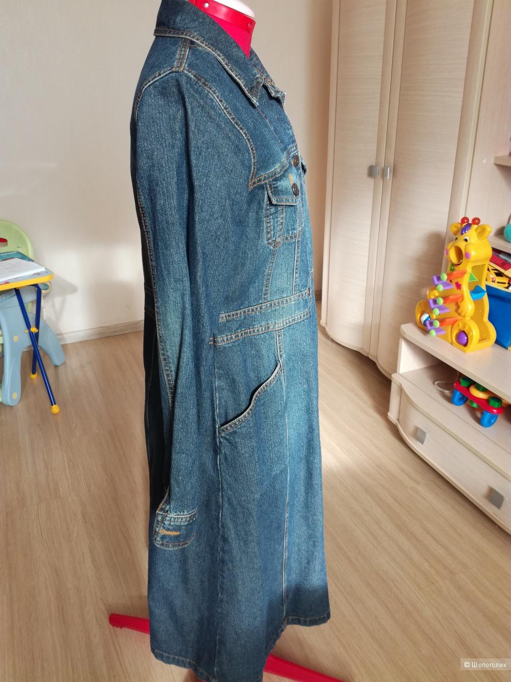 плащ женский джинсовый фото