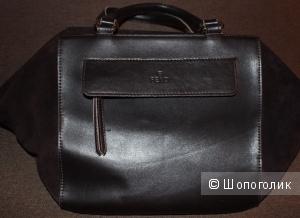 Темно-коричневая сумка Fendi , б/у