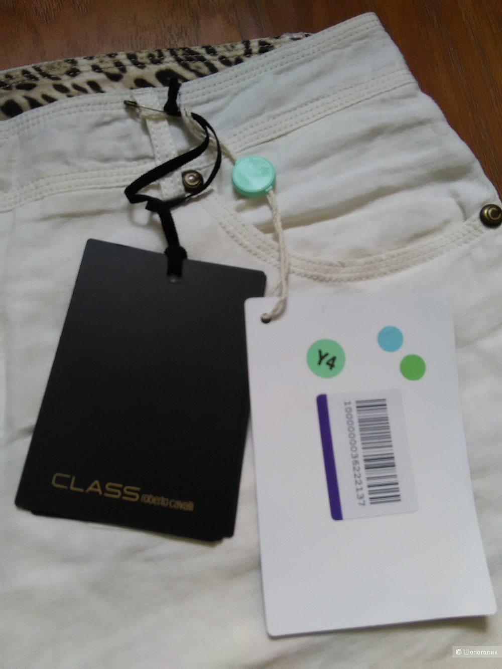 Повседневные брюки CLASS ROBERTO CAVALLI, 100 % лен, р. 42 IT/44 RU, оригинал, новые