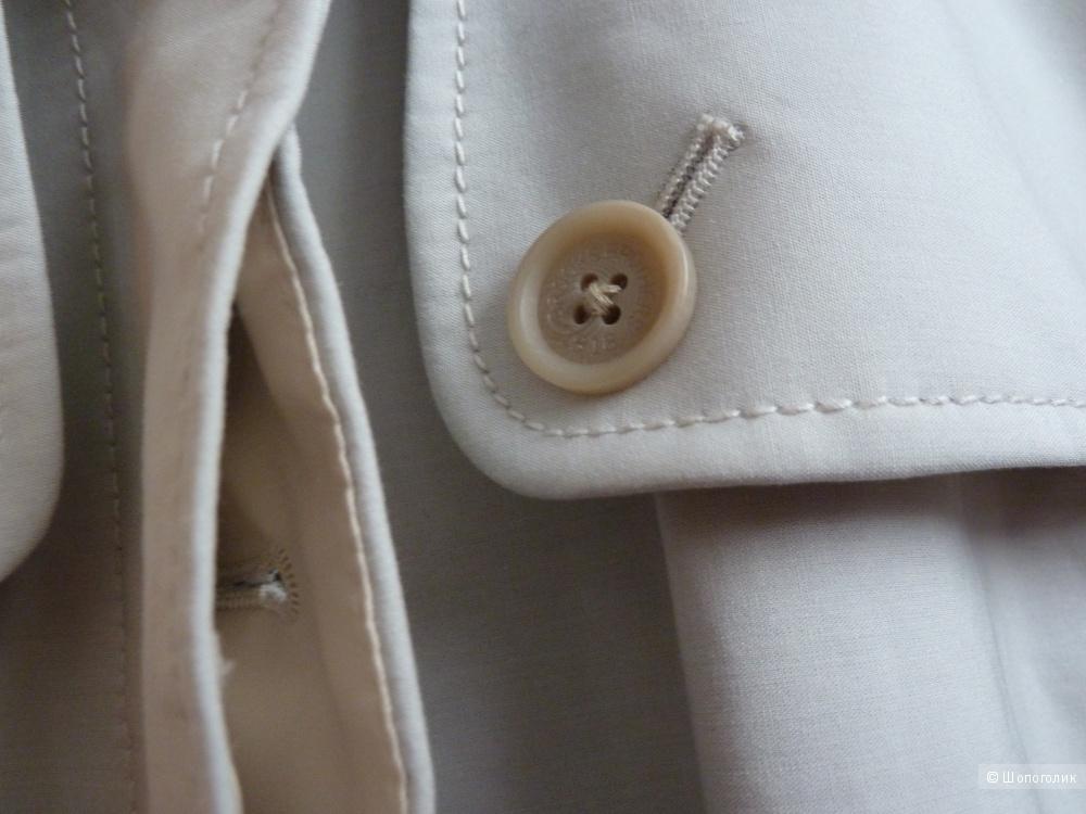 Brooks Brothers тренч, светло-серый, размер 0