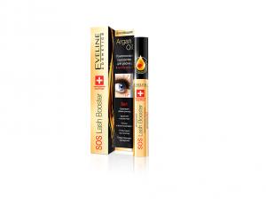 Eveline Cosmetics Sos Lash Booster with Argan Oil Комплексная сыворотка для ресниц 5 в 1 с маслом аргана