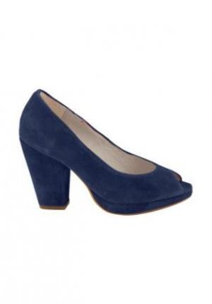 Туфли синие натуральная замша 40 размер.