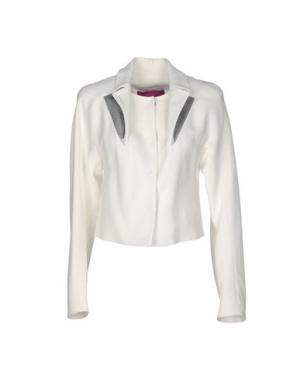 Пиджак Byblos оригинал р-р 40 IT белый с кожаными отворотами новый