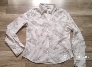 Рубашка H&M 44-46 размер хлопок