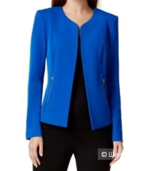 Пиджак классического кроя Calvin Klein CОLLARLESS ZIP-POCKET JACKET