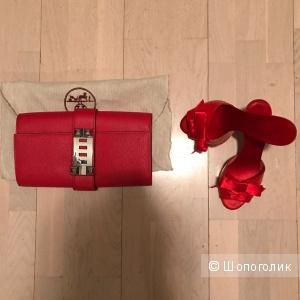 Новая красная сумка  Hermes