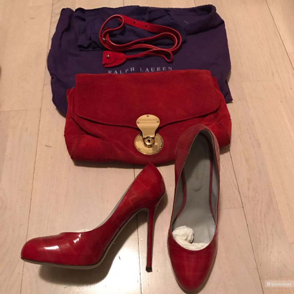 (Новое) Сумка красная Ralph Lauren