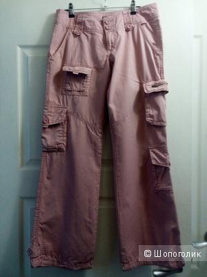 Розовые женские брюки, 46 размер