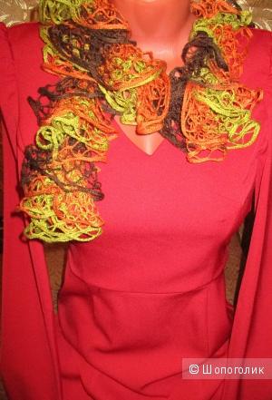 Платье  красное инсити 40-42 (новое)