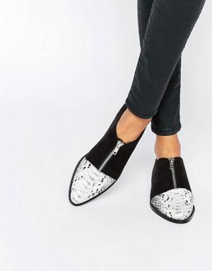 Туфли на плоской подошве с острым носом ASOS MAYOR