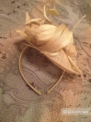 Шляпка на ободке, вуалетка
