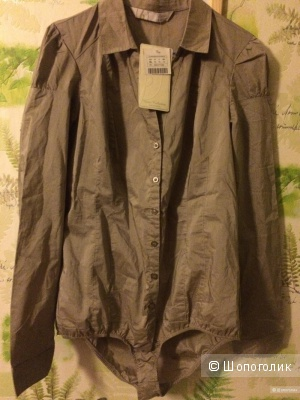 Боди-рубашка STRADIVARIUS, XL,  на 46-48 Rus